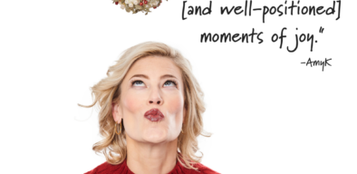 Keynote speaker, AmyK shares quote, Be open to unexpected moments of joy
